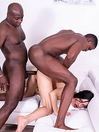 Skinny Allatra Hot Debuts with a Hardcore Interracial DP pictures at freekilosex.com