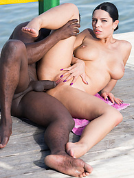 Big Tits Honey Kira Queen Has Interracial Sex by the Sea pictures