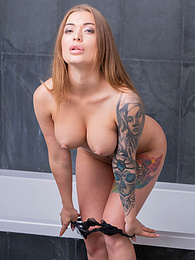 Tattooed Babe Misha Maver Quickly Goes From Yoga to Sex pictures at freekilosex.com