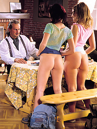 Sweet Heidi & Jessica Have Lots Of Fun Fucking an Old Guy pictures at freekilomovies.com