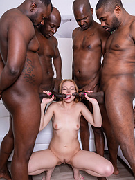 Sweet Little Rebecca Black Gets a Big Black Gangbang... pictures at kilomatures.com