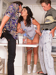 Domestic Delirium with Edina Keeping her Lucky Men Happy pictures at kilopills.com