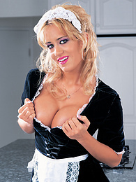 Sexy Blonde Maid With Outrageous Body Born to Serve Men!! pictures at freekiloporn.com