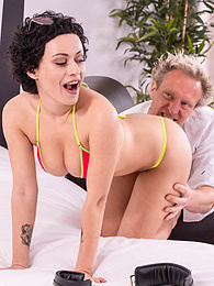 Gorgeous Stacy Bloom Puts Her Natural Tits To Good Use! pictures at freekilosex.com