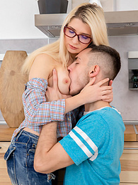 Blonde Teen Cornelia Has Sex and a Facial For Breakfast pictures