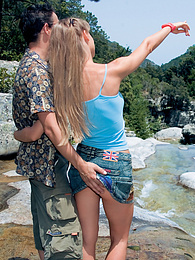 Energetic Bambola Has a Sporty Fuck Outdoors by the River pictures at find-best-lesbians.com