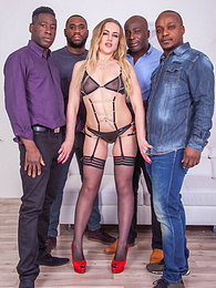 Liberta Black, an Open Wide Ass for an Interracial Gangbang pictures at find-best-lingerie.com