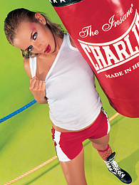 Christie Blanks, Boxing Girl Puts Up a Fight With Her Toys pictures at nastyadult.info