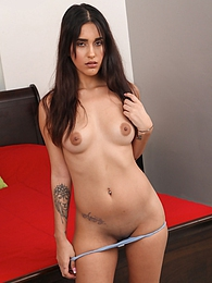 Brunette Penelope White naked on all fours waiting for you pictures at freekilopics.com