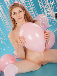 She does not need anyone else to have a party and enjoy herself to the fullest with each move she makes. pictures at kilogirls.com
