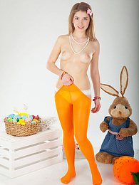 Her rabbit is always there to support her in all of her naughty and incredibly sexy little adventures. pictures