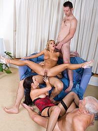 Amanda and Ellia Get Fucked in a Wild Orgy and Swap Partners pictures at dailyadult.info