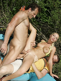 Jennifer likes double portion of outdoor dick in her pussy pictures at find-best-hardcore.com