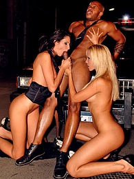 Amazing blonde cowgirl model double penetrated by these guys pictures at freekiloporn.com