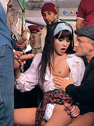 Slutty Schoolgirl Diana Enjoys a Bukkake in her Bus Ride pictures at find-best-mature.com