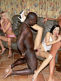 Gabriella Marceau and Kristina in an Hot Interracial Orgy pictures at freekilosex.com