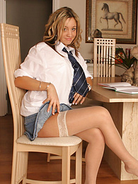 Cute Emma in her first photo shoot pictures at freekilosex.com