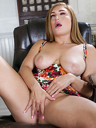 Busty coed Skylar Snow uses her fingers to massage her clit pictures at find-best-babes.com