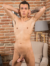 Tattooed boy Alexis Tivoli shows off his beautiful hard cock pictures at kilogirls.com