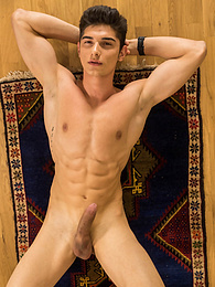 Gorgeous Jared Shaw shows off his lats and his hard cock pictures at find-best-babes.com