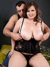 Big Tits Out & Stockinged Legs Spread pictures at freekiloporn.com