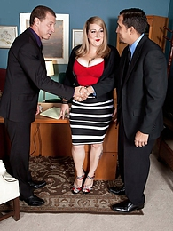 Threeway Sexecutive Meeting pictures at find-best-pussy.com