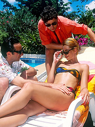 Liona, Caribbean Blue Sucks Dick and Gets DPed Near The Pool pictures at kilovideos.com