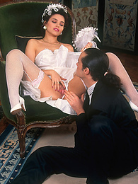 Szilvia enjoys a hardcore photo session in her wedding day pictures