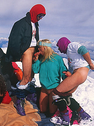 A Crazy Groupsex Porn Session at the Summit of the Montblanc pictures at find-best-mature.com