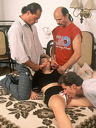 Three Hard Dicks To Fuck Hungry Edith in all Her Holes pictures
