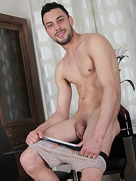 Gorgeous Lukas Novy masturbates into his shoe pictures
