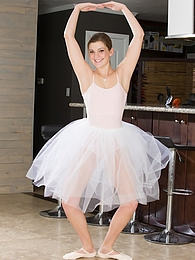Stunning ballerina Aubrey Snow strips butt naked pictures at find-best-babes.com
