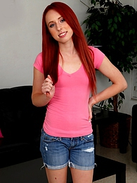 Small titted redhead teen Sofie Carter fingers twat pictures