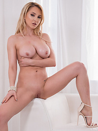 Hot Threesome With Blonde Alix Lynx P - This cock hungry slut gags on these dicks pictures at freekilosex.com