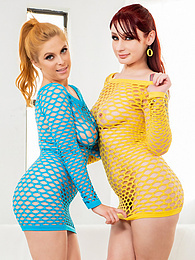 Anal Fun with Redhead Penny Pax and Violet Monroe P - play each other using these dildos pictures at freekilosex.com