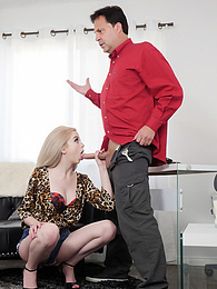 Young Blonde Lexi Lore Nymphomaniac Impulses P - ride his dick like a professional pictures at find-best-pussy.com