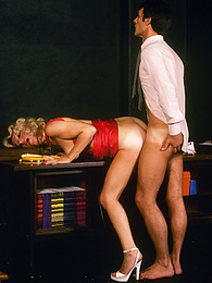 Blonde Sexy Sadie's hidden super surprise for her handsome boss pictures