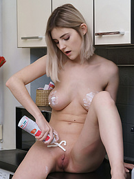 Lady Jay Getting Messy With Whipped Cream pictures at find-best-panties.com