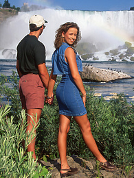 Pam Lee Enjoys the Sights and a Gangbang at Niagara Falls pictures