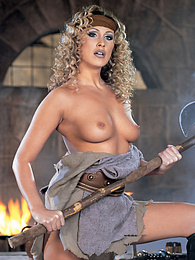 Mandy Bright, The Gladiatrix, takes on two mighty swords pictures