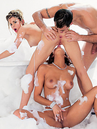 XXX Lather Threesome and Toys with Yasmine & Chloe Delaure pictures at find-best-babes.com