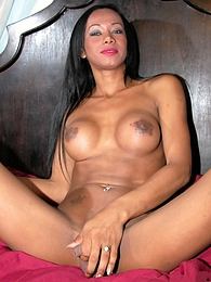 Ebony Rihanna Shows Her Cock And Asshole pictures at kilogirls.com