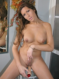 Tranny Sofia Dildoing Her Adorable Asshole pictures at kilogirls.com
