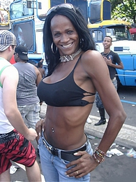 Nikki With The Trannies On The Streets Of Rio de Janeiro pictures at kilogirls.com