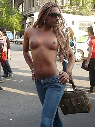 Hot Trannies At The Gay Parade In Santiago pictures