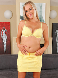 Blonde babe Petra on all fours masturbating with her favorite toy pictures at freekiloclips.com