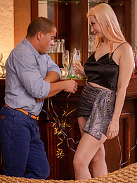 Busty blonde babe Roxy Risingstar rings in the New Year with a good hard fuck pictures at find-best-ass.com