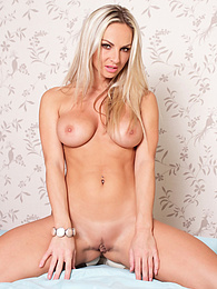 Blonde MILF goddess Wendy peels off her pink panties pictures at find-best-panties.com
