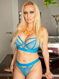 Busty blonde MILF Amber Jayne toys her older pussy pictures at find-best-panties.com