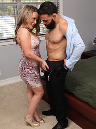 Curvy MILF Carmen Valentina has pussy pile drived pictures at freekilosex.com